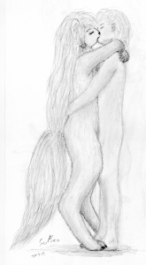 Furry kiss