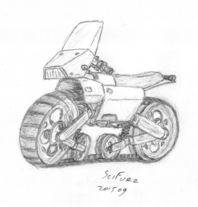 Tracked motorcycle concept